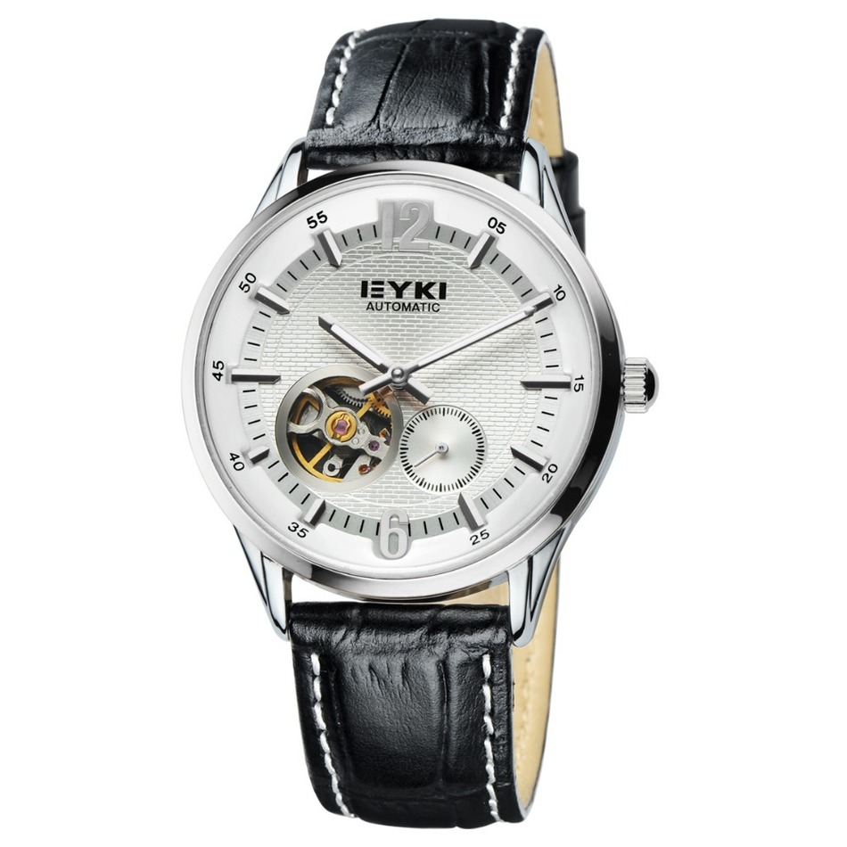 Brand EYKI Azera Business series Leather Hollow Design Process Back Through Mechanical Male Fashion Personality
