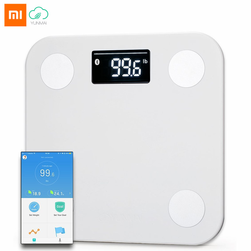 Original Xiaomi YUNMAI Mini Smart Weight Scale APP 10 Body Date Health Body Fat Scales Household Electronic Bariatric Weighing high digital bathroom scales weight scale weighing scale floor scales household electronic body bariatric lcd display