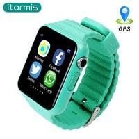 Itormis Kinder GPS Smart Watch Bluetooth Smartwatch Telefon Sim-karte What'sApp Facebook SOS Kinder Sicherheit Locator PK Q50 Q90