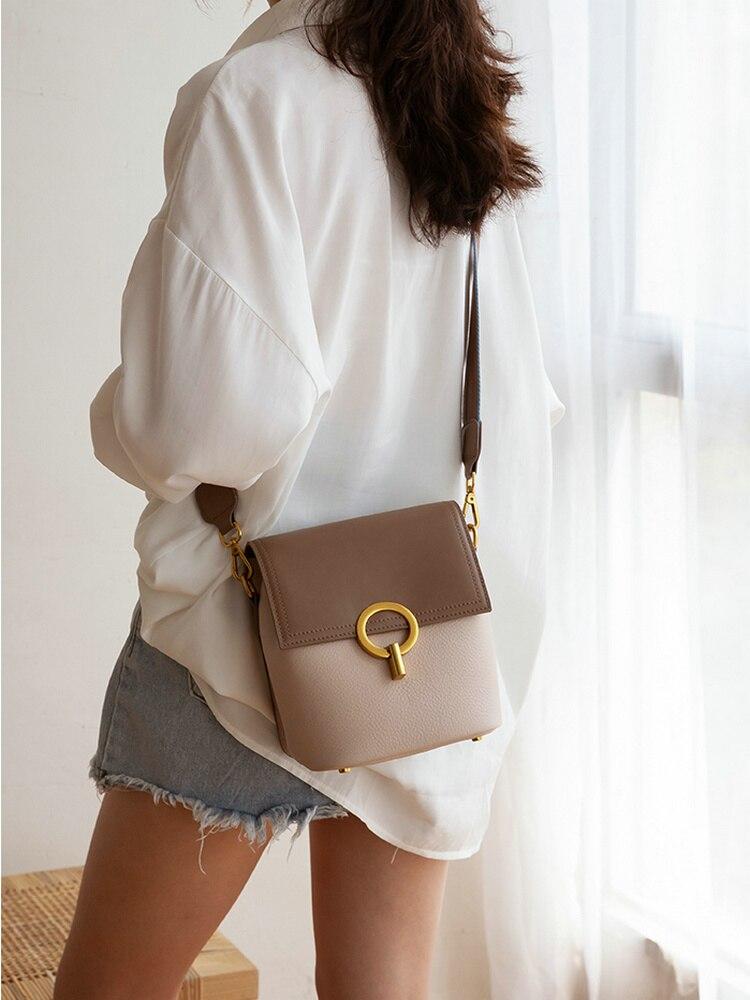 Bagaj ve Çantalar'ten Omuz Çantaları'de VENOF luxur hakiki deri geniş sapanlar kadınlar için kova çanta crossbody çanta moda Bayanlar Deri omuzdan askili çanta askılı çanta'da  Grup 1