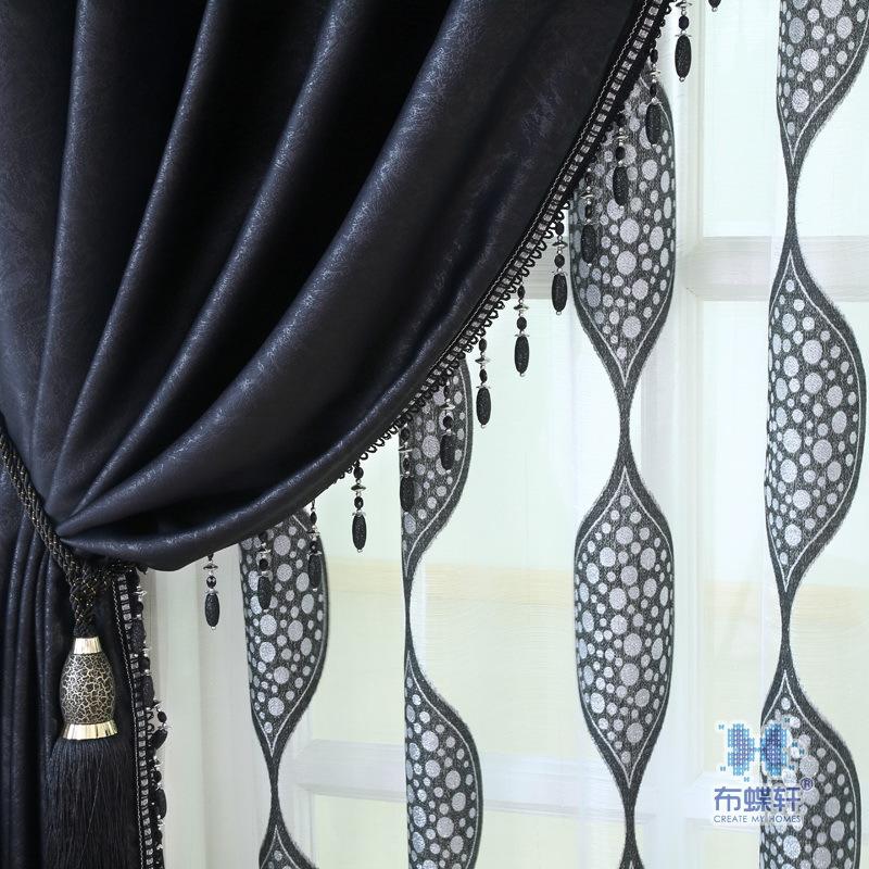 negro en relieve verde cortinas de saln comedor dormitorio sombreado cortina de tela persianas pantallas de
