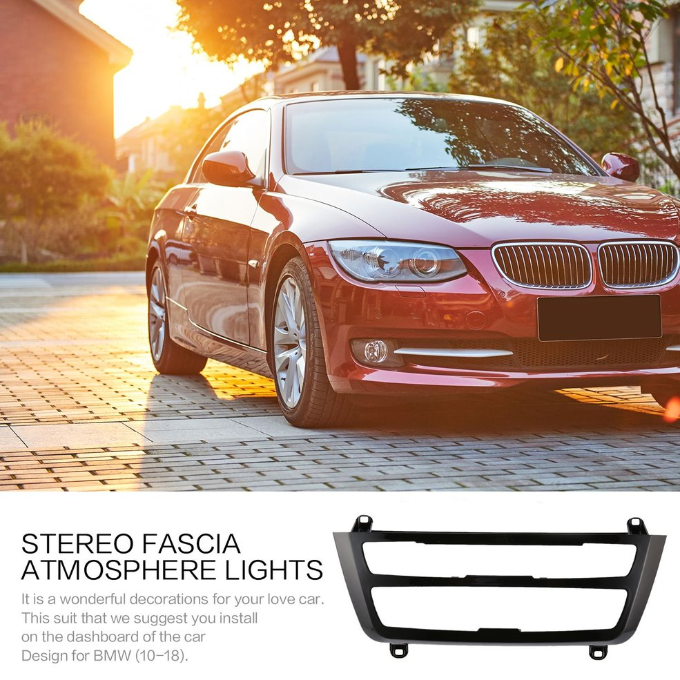Atmosphere Lights Built on Car Stereo Fascia for BMW 3 Series F30 F35 Variable Color Stereo Fascia Atmosphere Lights
