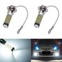 Katur 2x H3 светодио дный противотуманных фар PK22s базы светодио дный вождения ходовые огни лампы накаливания H3 автоматическое внешнее освещение для автомобилей 800Lm светодио дный 12 вольт