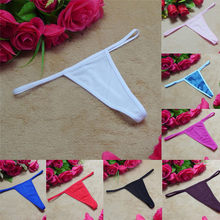 Sexy Lingerie Women's Cotton G-String Thong Panties String Underwear Women Briefs Pants Intimate Ladies Low-Rise 1 piece#T3L3(China)