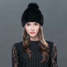 2016 new products sell like hot cakes in winter mink hat knitting hat