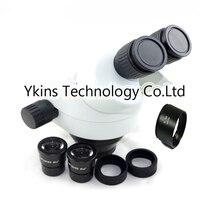 Непрерывный зум 7 45X промышленный Бинокль Стерео микроскоп головка + 0.5X или 2.0X объективный объектив для ремонт телефона pcb