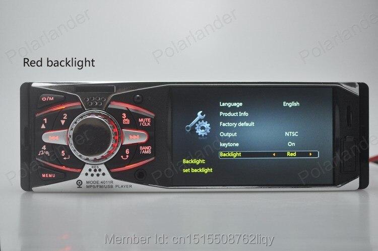 4,0 ''HD auto Radio estéreo 12 V trasero TFT MP5 jugador AUX/SD/USB/FM cargador en el salpicadero 1 din MP3/MP4/Audio/vídeo/electrónica de coche - 4