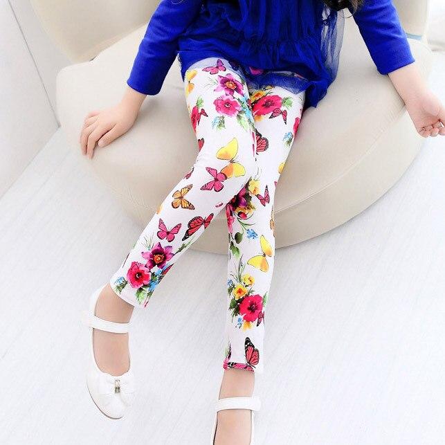 Mädchen Kleidung Socken, Strumpfhosen & Leggings GüNstiger Verkauf Freies Shippnig Mode Mädchen Schöne Blume Schmetterling Leggings Kinder Korea Stil Dünne Hosen Baby Mädchen Kleidung