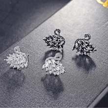 Серьги гвоздики lzx с фианитами женские ювелирные украшения