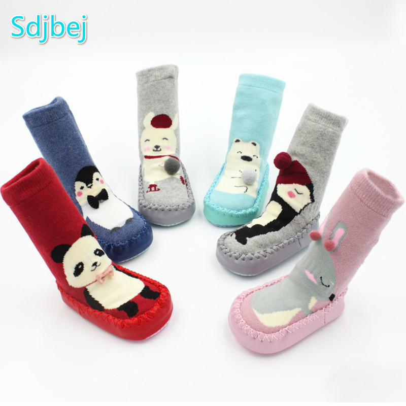 Autumn Winter Terry Thick Warm Children's Socks Non-slip 0-3 Year Old Baby Shoes And Socks Toddler Socks Baby Floor Socks Shoes soumit 5 colors professional yoga socks insoles ballet non slip five finger toe sport pilates massaging socks insole for women