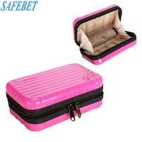 SAFEBET Brand Mini Makeup Storage Box Travel Waterproof Hand Held Cosmetic Beauty Brushes Lipstick Jewelry Organizer