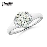 Дюпюи 2018 натуральный кольцо с бриллиантом 0.04ct Diamond 14 К кольцо из белого золота ручной работы свадебные Обручение украшения для Для женщин ко