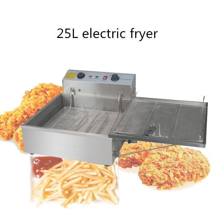 new arrival 25L automatic electric fryer, commercial use fry fried frying donut,chips,chicken leg fryer machine shipule fast food restaurant 30l commercial electric chicken deep fryer commercial potato chips deep fryer frying machine