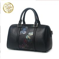 Famous Brand Top Quality Dermis Women Bag 2016 New China The Wind Messenger Bag Butterfly Print