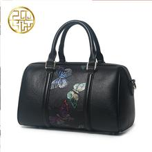 Famous brand top quality dermis women bag   2016 new China the wind messenger bag Butterfly Print Tote Boston bag