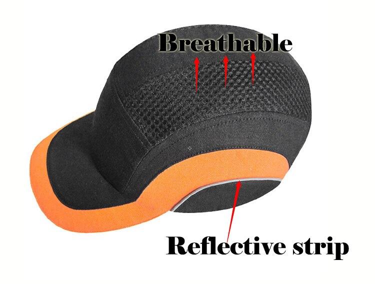 Bump Cap Arbeit Sicherheit Anti-auswirkungen Licht Gewicht Helme Mit Reflektierende Streifen Atmungs Sicherheit Schutz Sonnencreme Hut Schutzhelm