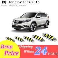 עבור הונדה crv crv Shinman 10pcs X שגיאה חינם LED הפנים חבילת ערכת אור עבור אביזרים הונדה CRV CRV 2007-2015 (1)