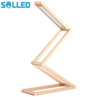 SOLLED Dimmable LED Desk Lamp Flexible Portable Table Lamp With USB Charger Multi Shape Foldable Lamp
