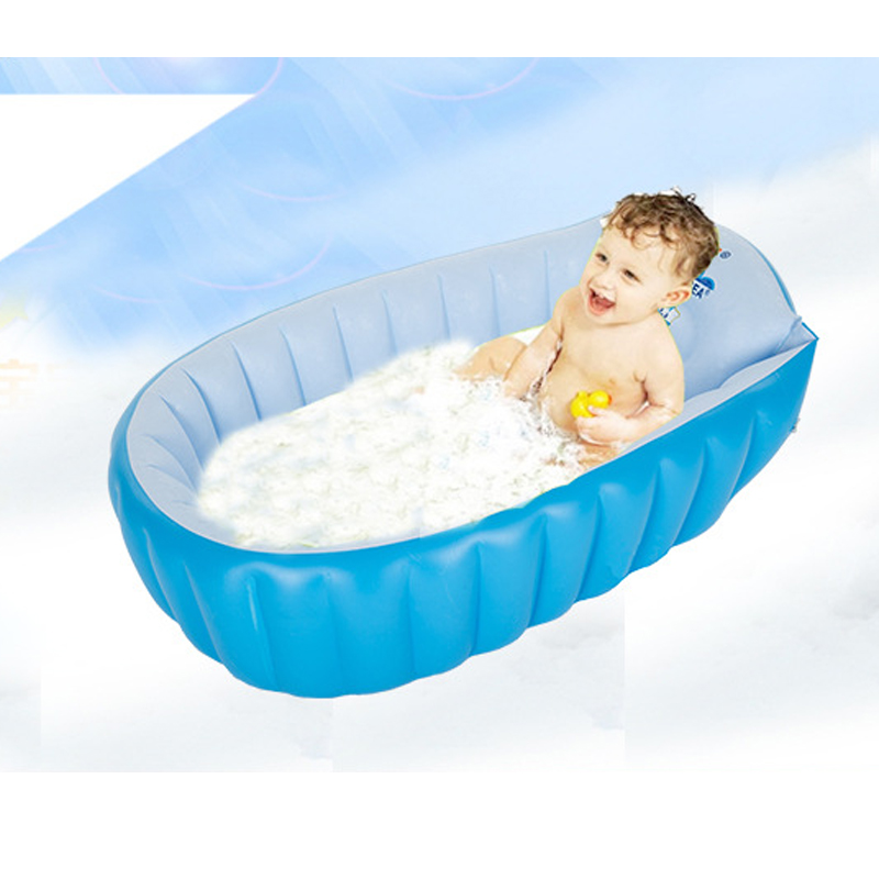 ФОТО Portable Inflatable Baby Bath Baby Swimming Pool Thickening Folding Children Washbowl inflatable pools Kids PVC Bathtub