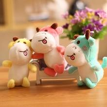 1PC 13CM Creative Cute Calf Plush Animal Toy Key Chain Filled Plush Cow Toy Key Chain Bag Pendant Children's Birthday Toys