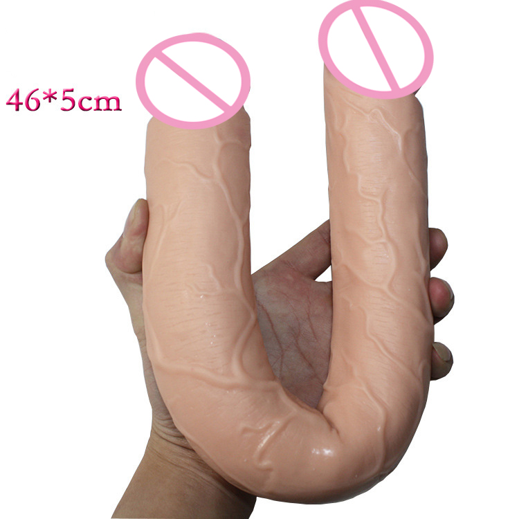 460*50mm huge double dildo long dildo realistic double penetration big dildos double dong fake penis sex products for women gay lesbian woman double ended dildo realistic penis big dick anal and vagina double dong penetration long dildos for women sex toys