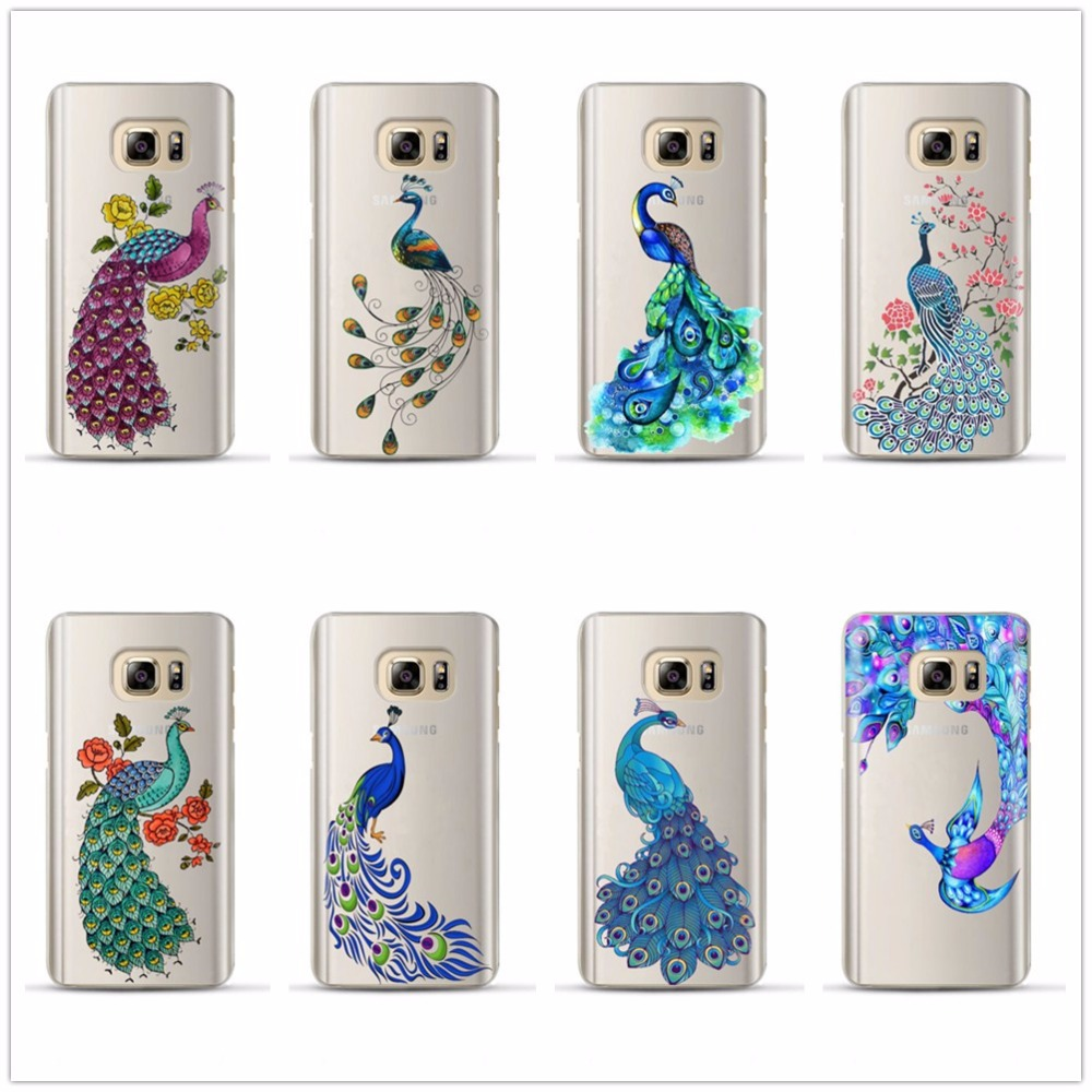 Pu leather case for samsung galaxy a7 2016 a710 peacock feather - Colorful Beautiful Animals Peacock Plastic The Hard Shell Case Cover For Samsung Galaxy A3 A5 A7