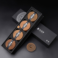 Natural Coil Incense Sandalwood Wormwood Agarwood for Home Buddha Tibetan Incenses Aroma Fragrance Censer Accessories Gift Box