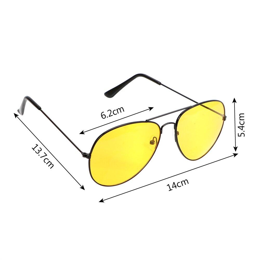 FORAUTO Anti-glare Car Drivers Night Vision Goggles Driving Glasses Copper Alloy Sunglasses Auto Accessories 4
