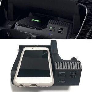 Image 1 - 10 واط سيارة تشى اللاسلكية شحن شاحن الهاتف شحن اكسسوارات لمرسيدس بنز W205 AMG C43 C63 GLC43 GLC63 X253 C الفئة