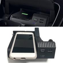 10W רכב QI טעינה אלחוטי טלפון מטען טעינת מקרה אביזרי עבור מרצדס בנץ W205 AMG C43 C63 GLC43 GLC63 x253 C Class