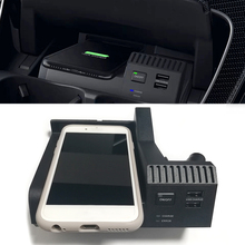 10W car QI wireless charging phone charger charging case accessories for Mercedes Benz W205 AMG C43 C63 GLC43 GLC63 X253 C Class