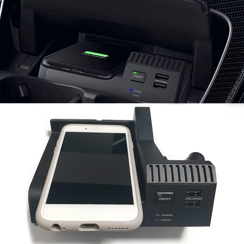Carro QI de carregamento sem fio do carregador de carregamento do telefone caso acessórios para Mercedes Benz W205 C180 C43 C63 GLC AMG Classe C para o iphone