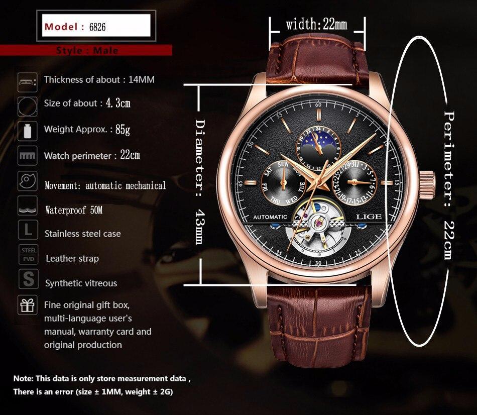relógio mecânico tourbillon esporte relógios data automática