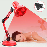 100W Infrared Therapy Heat Lamp Pain Relief Physiotherapy Heating Light Massage Health Infra Care Desktop Floor Stand US Plug