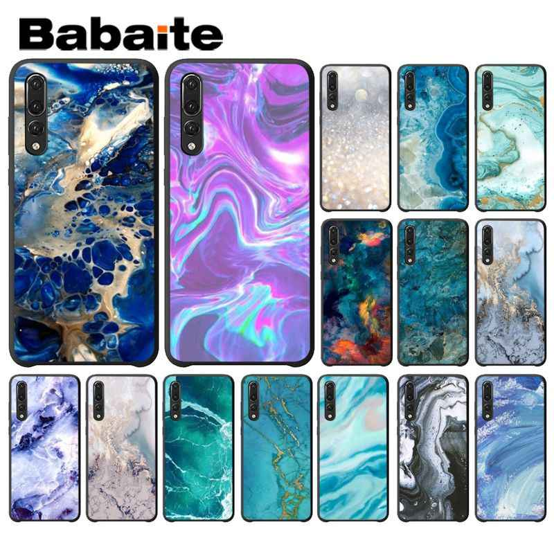 Babaite Art Marble Paint DIY Printing Drawing Phone Case for Huawei Mate10 Lite P20 Pro P9 P10 Plus Mate9 10 Honor 9 10 View 10