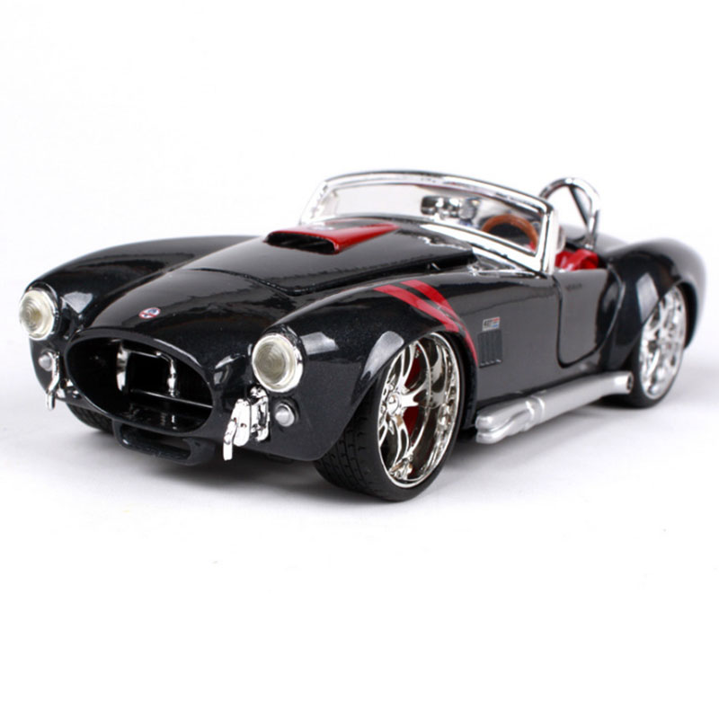 1:24 1969  Ford Shelby Cobra Classic Car  Metal Model Vintage Automobile Toy Vehicle High Simulation Diecast Decoration