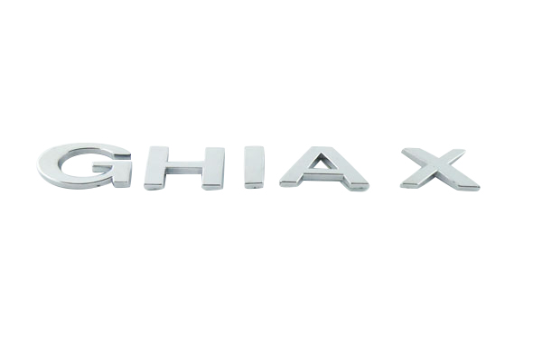 Auto car chrome GHIAX GHIA X for Mondeo Emblem Badge Sticker auto chrome for 2008 2013 genesis front rear wing emblem badge sticker