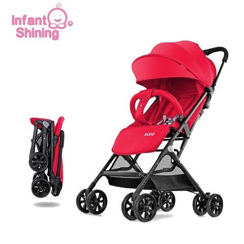 Infant Shining Baby Stroller 5.2kg Folding Baby Carriage 0-3Y  Lightweight Pram High Landscape Prams For Newborns Travel Pakistan