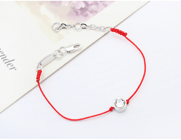 Crystal From Austrian jewelry thin red thread string rope Charm Bracelets for women Fashion  summer style