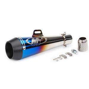 Image 4 - Motorcycle muffler Silencer M4 exhaust pipe CBR125 CB400 CBR600 CB600 CB750 R25 Z250 R1100 modified exhaust muffler GP Escape