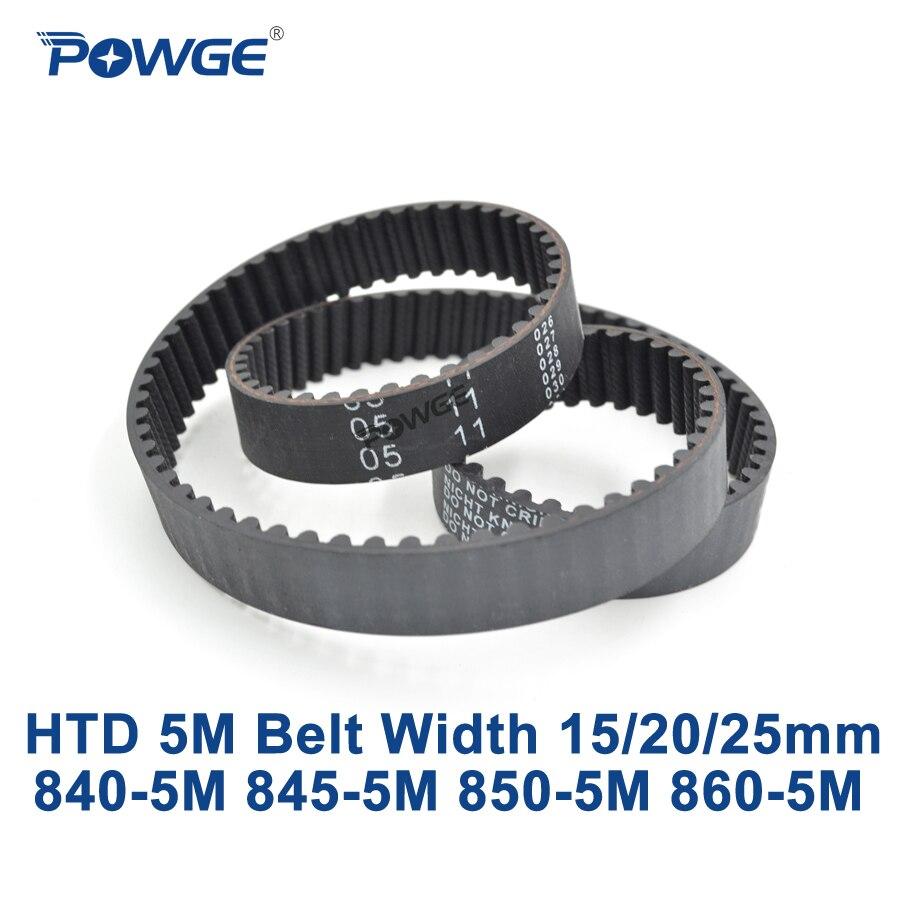 POWGE HTD 5M synchronous belt C=840/845/850/860 width 15/20/25mm Teeth 168 169 170 172 HTD5M  Timing Belt 840-5M 850-5M 860-5MPOWGE HTD 5M synchronous belt C=840/845/850/860 width 15/20/25mm Teeth 168 169 170 172 HTD5M  Timing Belt 840-5M 850-5M 860-5M