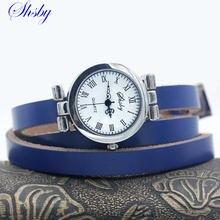 Shsby новые модные женские длинные часы с кожаным ремешком серебряные