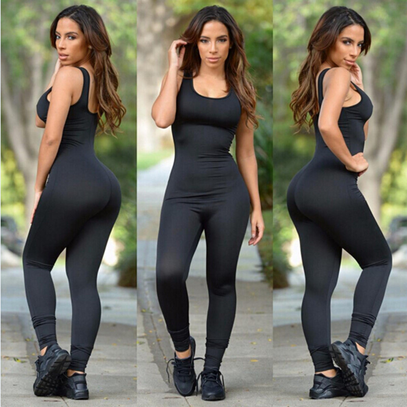 women sexy jumpsuits and rompers black sleeveless plus
