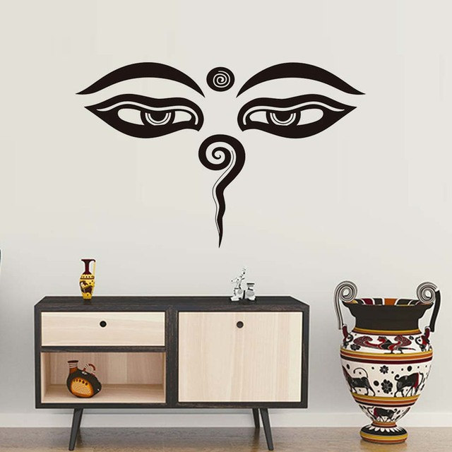 Aliexpresscom Buy DCTOP Indian Buddha Eyes Wall Stickers Home - Vinyl wall decal adhesive