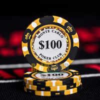 Fichas de póker de cerámica 14g juego de monedas de Casino de arcilla 40mm fichas de póquer entretenimiento monedas de dólar 3 unids/pack