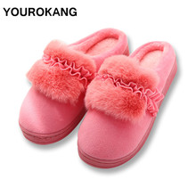 Female Home Slippers Winter Warm Indoor Bedroom Women House Shoes Ladies Plush Cotton Furry Pantufa Unisex