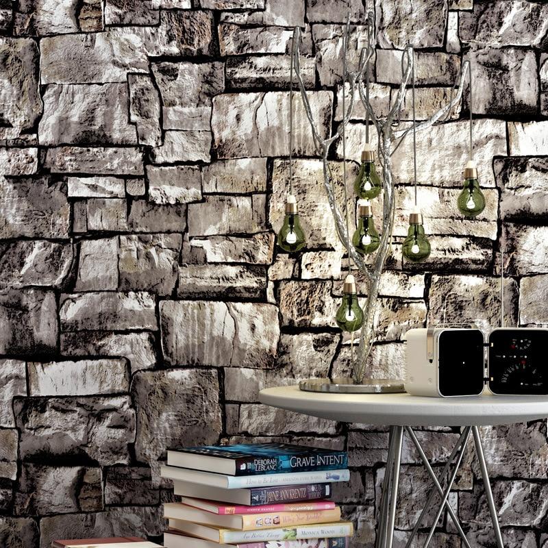 Beibehang chinois stéréo 3D rétro Antique Culture pierre papier peint Restaurant café fond papier peint papel de parede
