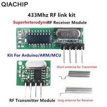 QIACHIP 433 Mhz superheterodynowy odbiornik RF i moduł nadajnika dla Arduino Uno moduł bezprzewodowy Diy Kit 433 Mhz zdalnego sterowania