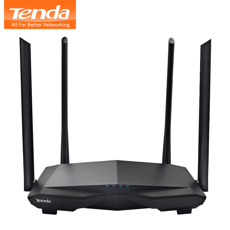 Tenda AC6 Dual Band 1200Mbps Wifi Router WI-FI Repeater Wireless 11AC 2.4G/5.0GHz Smart App Remote Control English Firmware