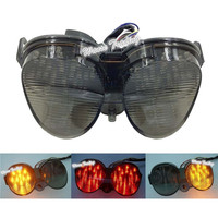 waase For Yamaha YZF R6 2001 2002 Rear Tail Light Brake Turn Signals Integrated LED Light